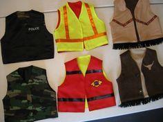 Boys Reversible Vests Fun Play Make Believe Dress by irishandmore