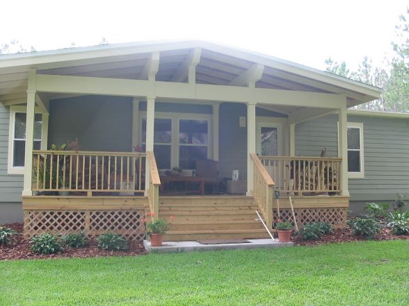 Shunk One Day    29 Covered Front Porch Design Ideas For Manufactured Homes
