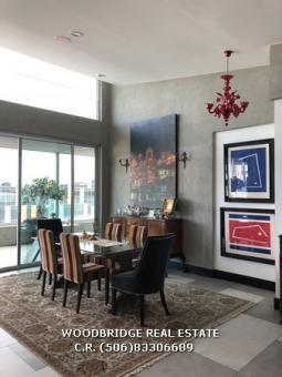 Costa Rica Escazu luxury penthouse for sale Avenida Escazu, contact Woodbridge real estate Costa Rica mobile (506)88340226