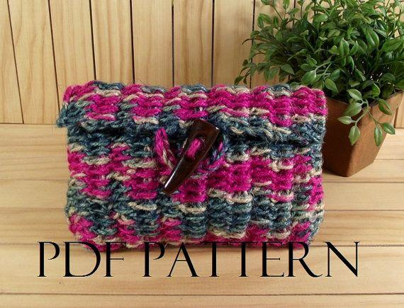 CROCHET BAG PATTERN Clutch Bag Pouch Bag by LiliaCraftParty  #knitbag #crochet