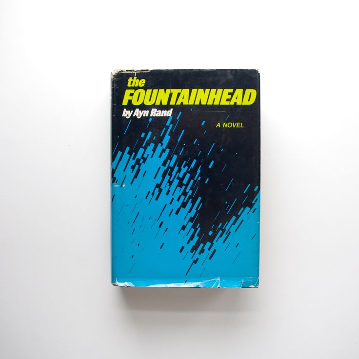 The Fountainhead by Ayn Rand – 1943 Book Club Edition – With Dust Jacket