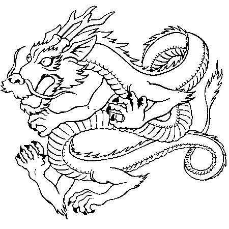 Dessin dragon japonais a colorier inspiration pinterest dragon chinois dragons et cahier - Dessin dragon japonais ...