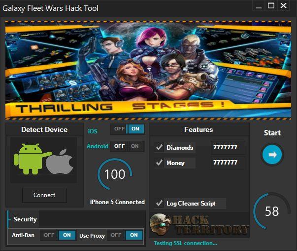 Galaxy Fleet Wars Hack est un grand hack qui peuvent générer des fonds illimités, diamants et plus. Télécharger Galaxy Wars Flotte Hack gratuitement dès maintenant!
