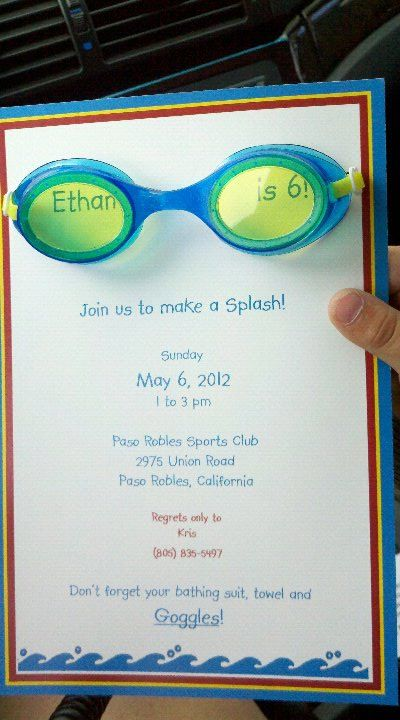 My #1 swim party invite...