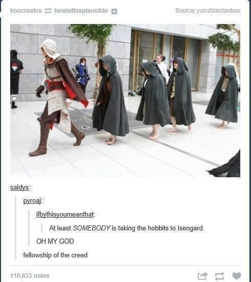 At least someone is taking the hobbits to Isengard...