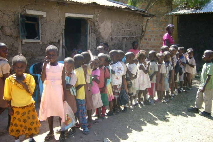 Children that the Migosi Family Hope society are assisting.