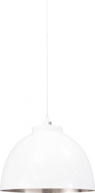 Hanglamp Bola is een fraaie lamp, die met zijn grote bol uw eetkamertafel graag in het zonnetje zet. De witte bol heeft een doorsnede van 45cm en is voorzien van een nikkel-kleurige binnenzijde. Deze kleurencombinatie maakt Bola bijzonder stijlvol; hanglamp Bola past dan ook in iedere moderne inrichting.
