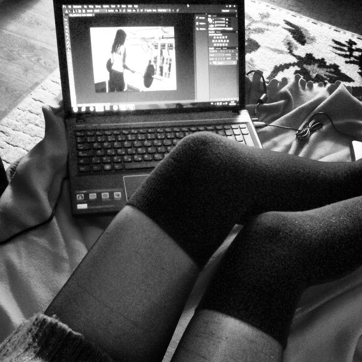 work hard play hard,  #overknee #knitted #pullover