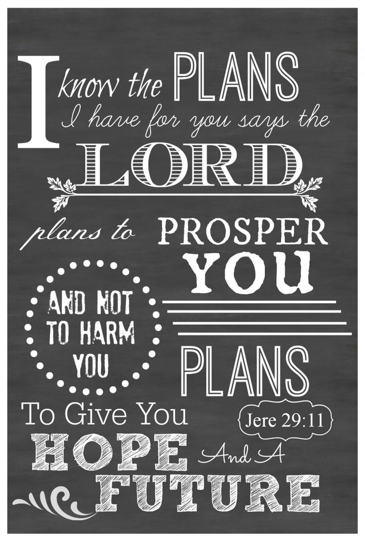 """I KNOW THE PLANS I HAVE FOR YOU"" CHALKBOARD PRINTABLE This chalkboard art is ready to be printed out and put in a 5 x 7 frame!"