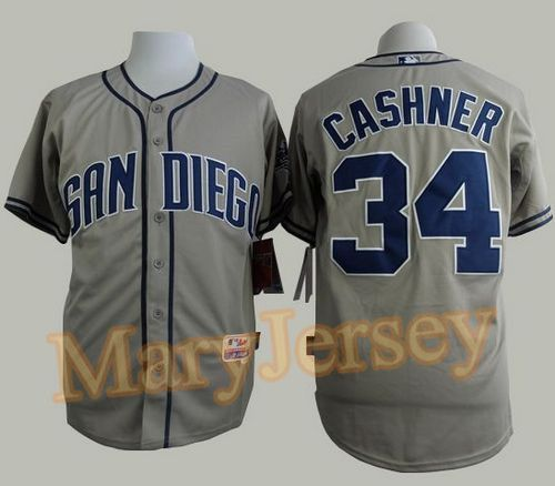 "$23.88 per one, welcome email ""MaryJersey"" at maryjerseyelway@gmail.com for Padres 34 Andrew Cashner Grey Cool Base Stitched Baseball Jersey"