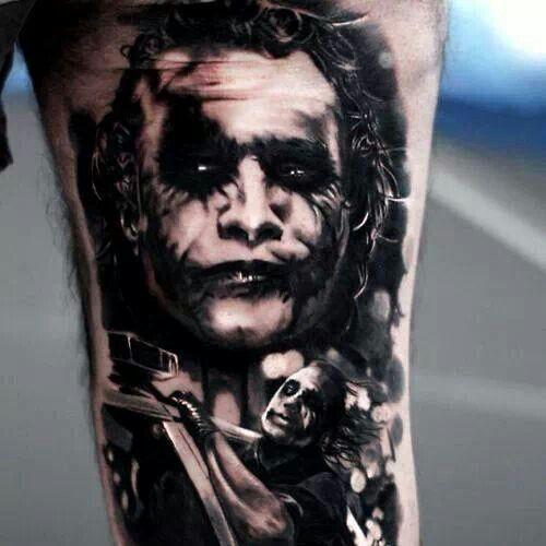 Joker tattoo tattoo pinterest jokers joker tattoos for The joker tattoo