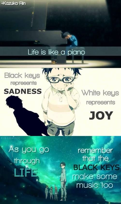 la musique un toujours une part de nous joyeuse est l'autre triste comme le piano