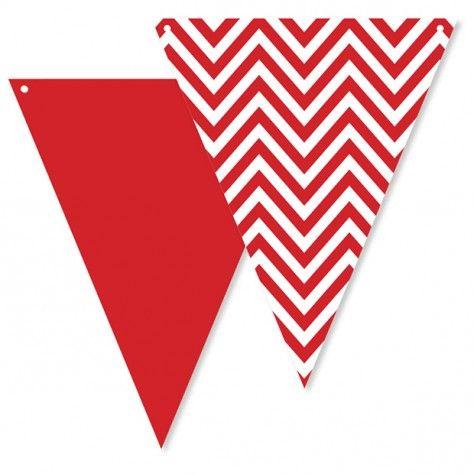 Σημαιάκια chevron κόκκινα
