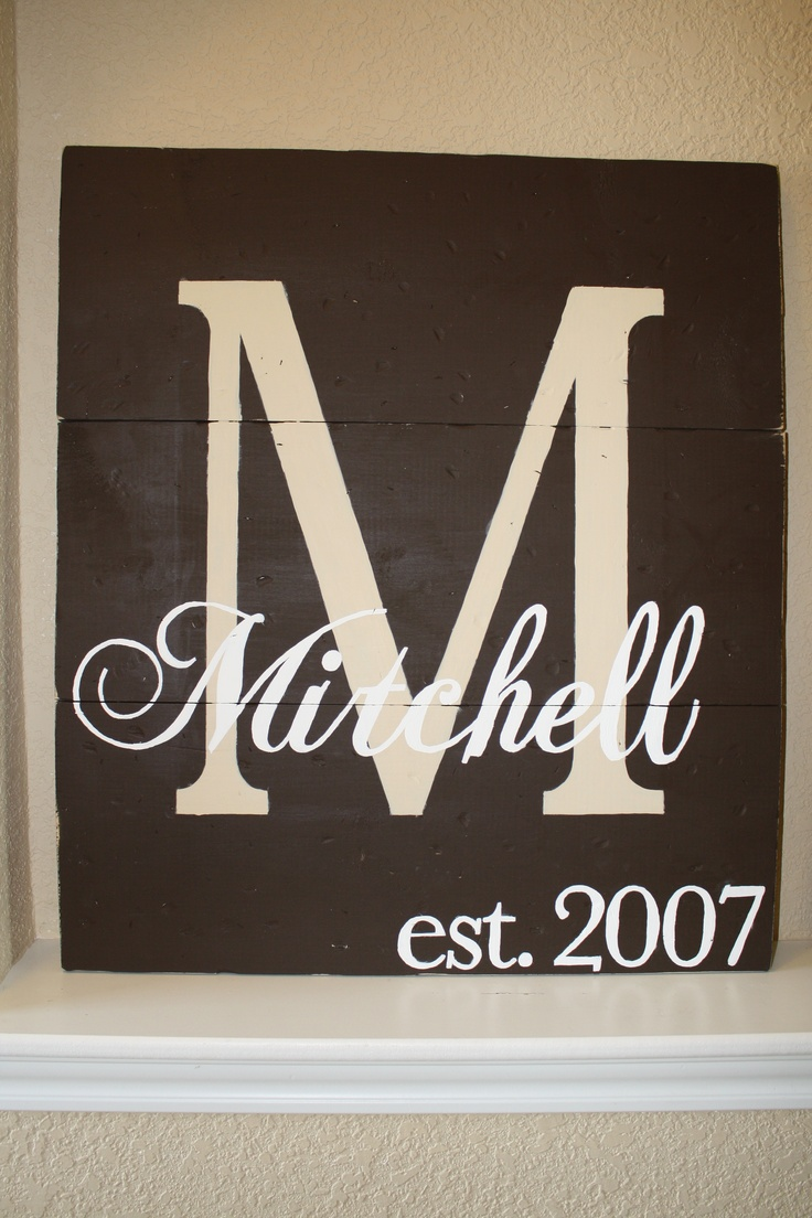 Wall decor.Boards I, Monograms Ideas, Gift Ideas, Living Room, Cool Ideas, Anniversary Gifts, Name Signs, Crafts, Wedding Gifts