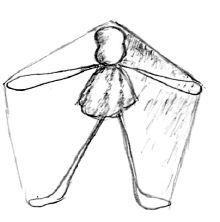 Proportionen festlegen und Draht biegen