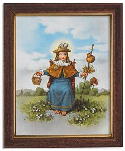 Santo Niño de Atocha Print In Frame With Glass