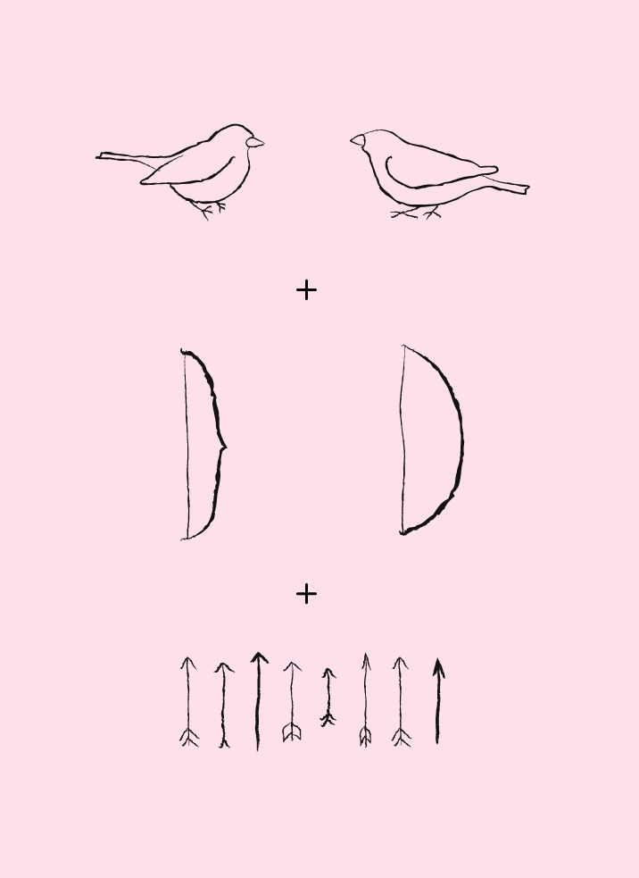 sparrows with bows and arrows