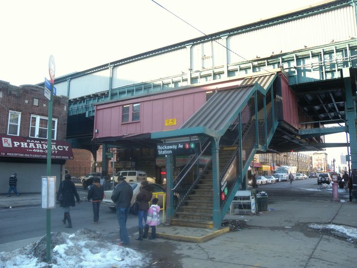 Rockaway Ave train station  Brownsville Brooklyn NY