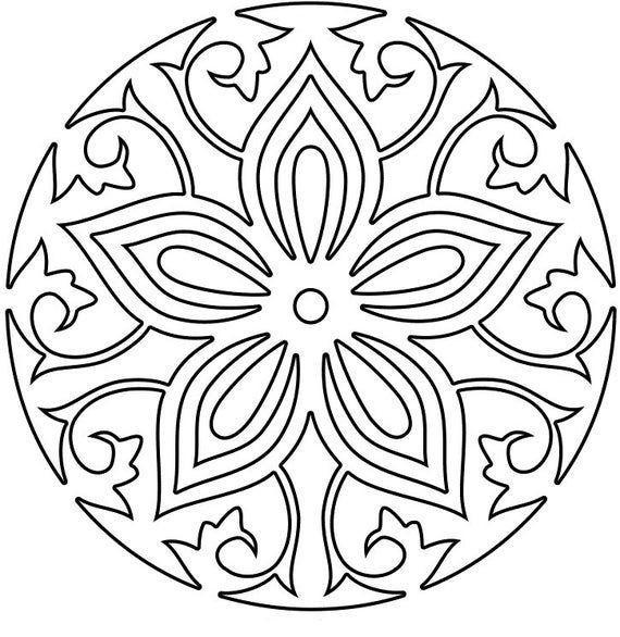 Zen Doodle Coloring Book 50 Page Digital Download Pdf Etsy In 2020 Mandala Coloring Pages Mandala Coloring Mandala Coloring Books