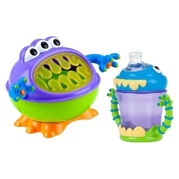 Nuby 2pc Monster Baby Feeding Set - Snack Keeper and 2 Handle Super Spout Trainer Cup already viewed