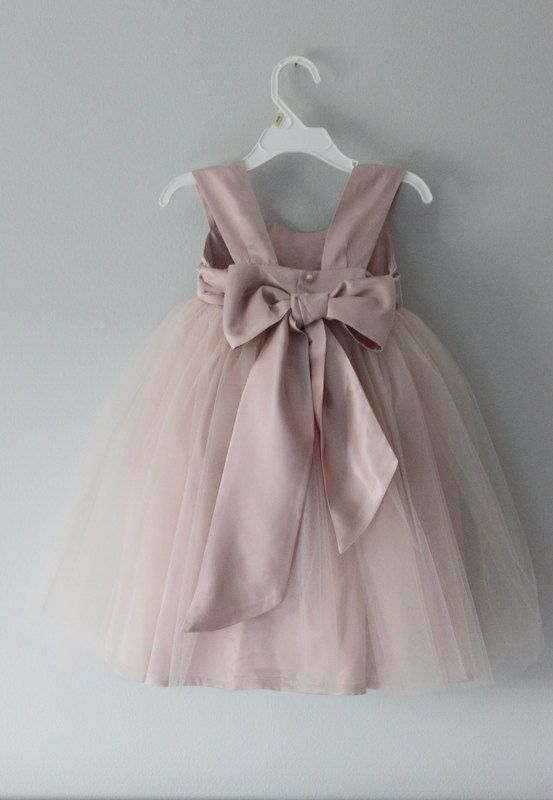 Handmade shoulder strap flower girl dress, wedding dress, bridesmaid dress, christening dress...size 3 months to size 16 on Etsy, £72.67