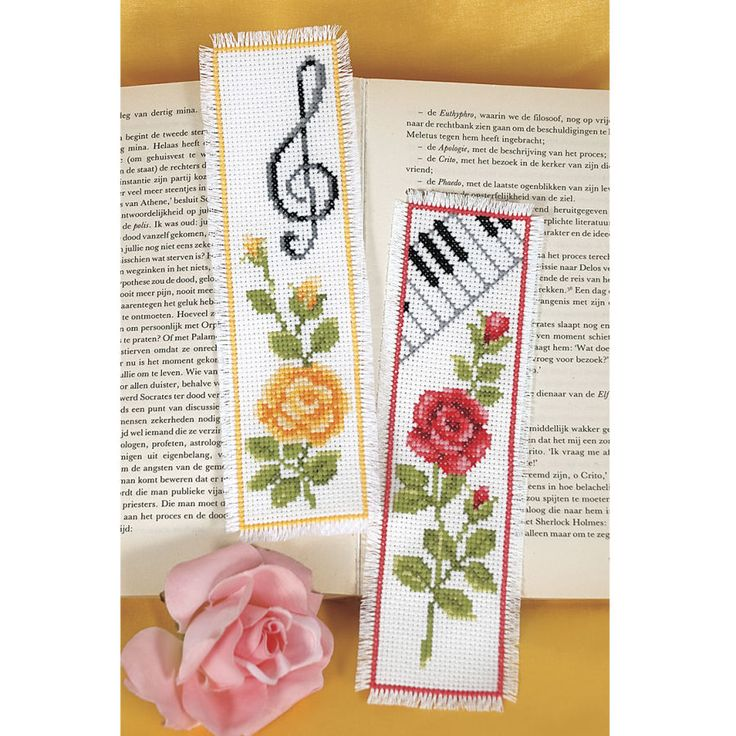 Musical Garden Bookmarks - Cross Stitch, Needlepoint, Embroidery Kits – Tools and Supplies