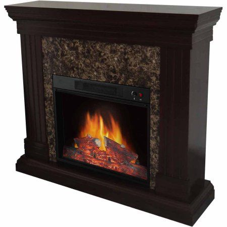 Electric Fireplace With 44 Quot Mantle Walmart Com
