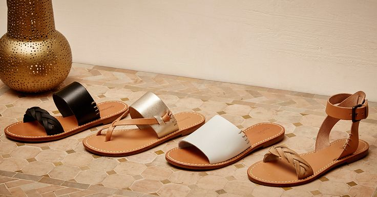 The essence of simplicity, our new leather sandals are as chic as they come. A subtle nod to our signature jute soles and and our love of the sun.