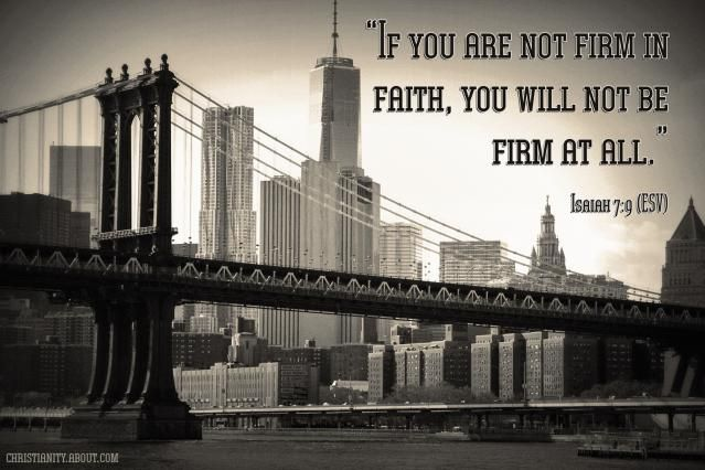 Verse of the Day: Firm in Faith - Isaiah 7:9