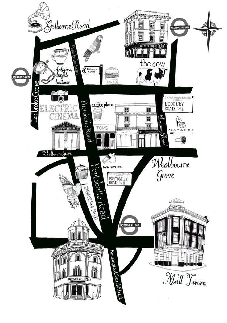 Notting Hill Map Idea by Zoemof.com