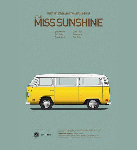 Minimalistic car movie posters by Jesús Prudencio