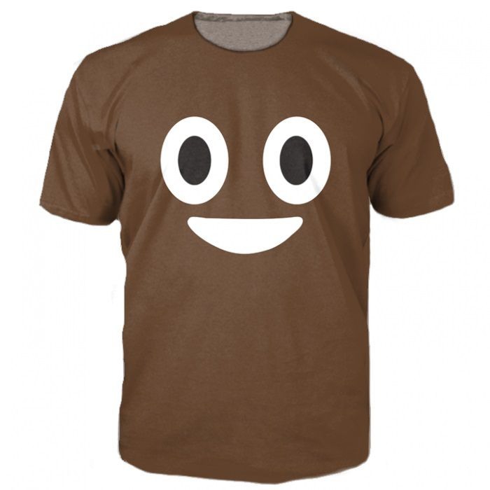 new arrive Poop Emoji T-Shirt cute turd characters 3d print t shirt fashion clothing tops Summer Style tee for women men