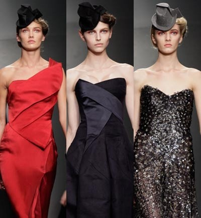 Donna Karan, Strapless asimetricos en vestidos de fiesta
