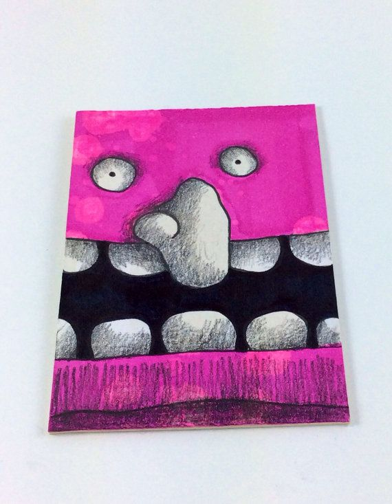 Pink Monster art card by Aaron Butcher on Etsy, $5.00