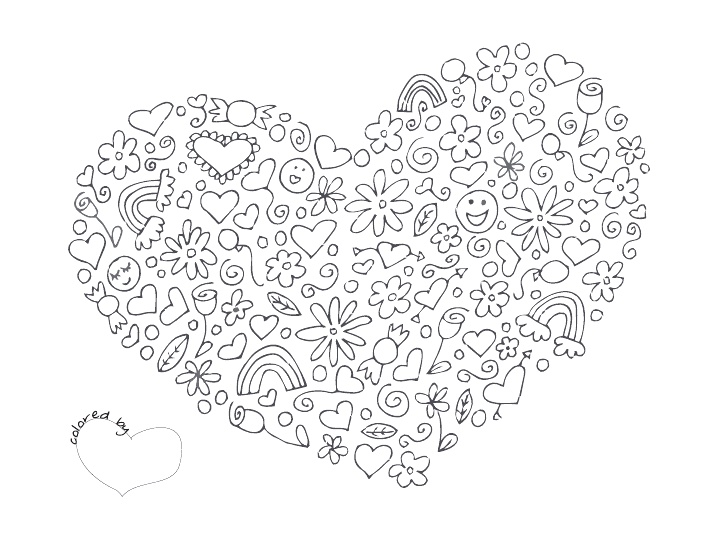 Heart Coloring Page Pdf