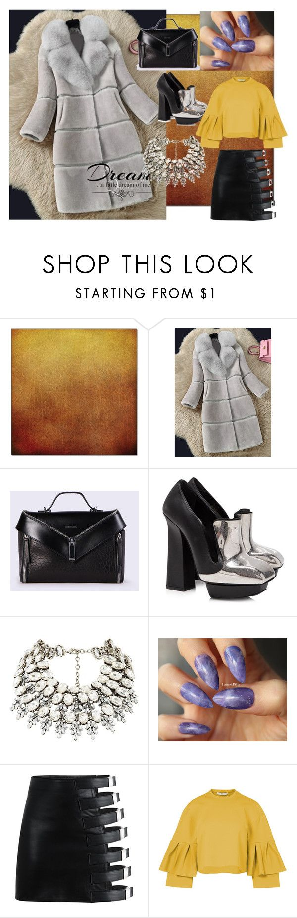 """""""Statement COAT!"""" by nela-queen ❤ liked on Polyvore featuring Diesel, Alexander McQueen, Love Quotes Scarves and TIBI"""