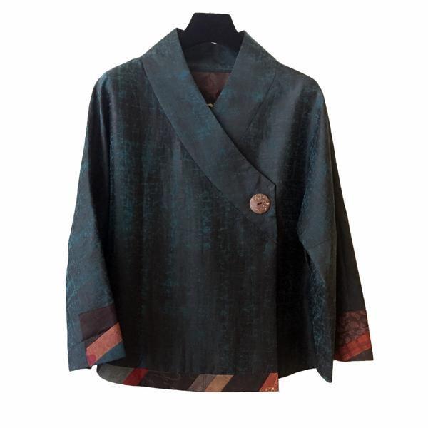 Fong Chong Jacket Lacquered Silk – Santa Fe Weaving Gallery