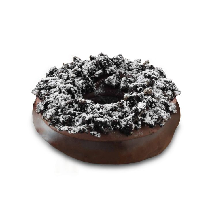 Cookie Crunch Doughnut  Chocolate doughnut coated in chocolate glaze and topped with chocolate icing, chocolate cookie crumb and a dust of doughnut coating. This doughnut is also available in other Krispy Kreme Doughnut International locations. FlagIndonesia