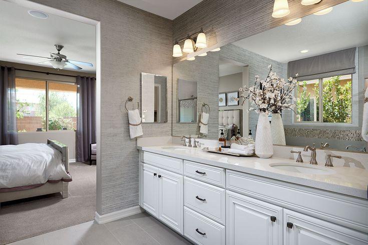 Bright, white master bath | Desiree model home | Las Vegas, Nevada | Richmond American Homes