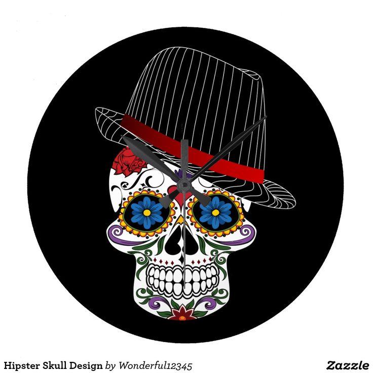 Hipster-Schädel-Entwurf Uhren