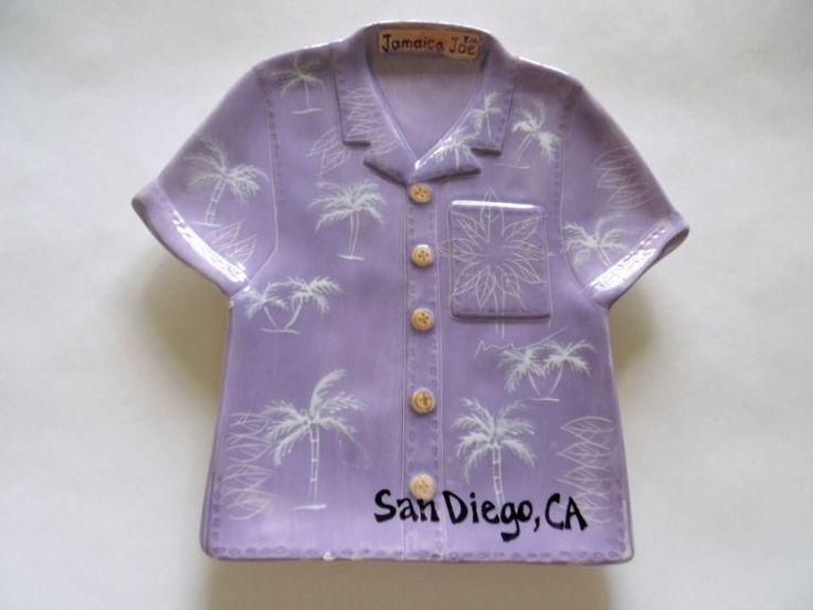Jamaica Joe Tropical Shirt Ceramic Serving Tray 2004 Cape Craftsman Inc…