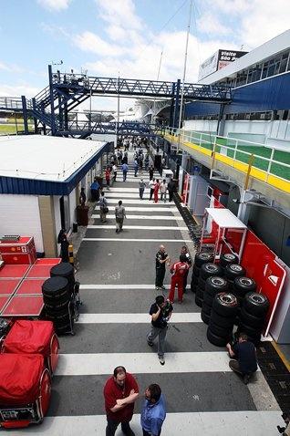 The paddock.  Formula One World Championship, Rd 19, Brazilian Grand Prix, Preparations, Interlagos, Sao Paulo, Brazil, Thursday, 24 November 2011