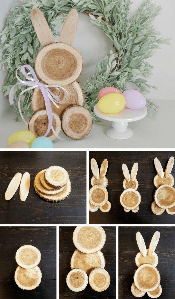 groß Bauernhaus Ostern Dekor – DIY Schrott Holz Bunny