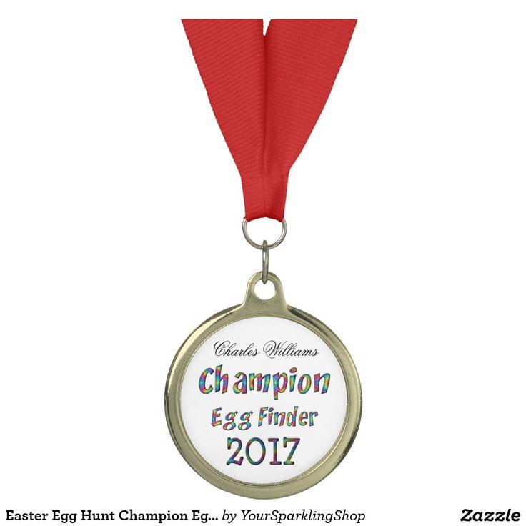 Easter Egg Hunt #Champion Egg Finder 2017 Funny Gold #Medal #giftideas #kids #egghunt