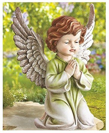 Angel Garden Statue - Outdoor Patio Decoration Angelic Ornament Kid Figure High Quality