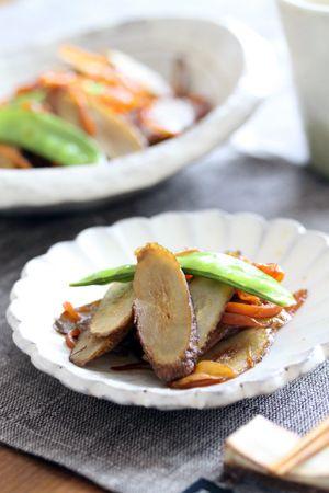 ごぼうと人参のバルサミコ酢炒め | 美肌レシピ