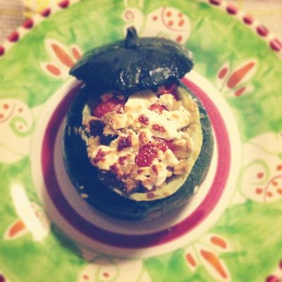 Foodolina: Quinoa Stuffed Round Courgettes