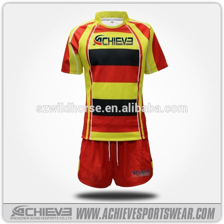 Sublimated Rugby Practice Shirts/Rugby Practice Shorts Custom Rugby Clothing #rugby_clothing, #Men