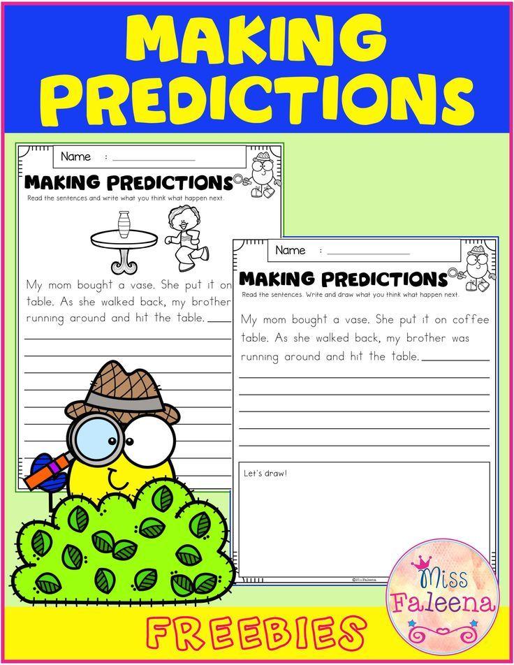 Free Making Predictions Making Predictions First Grade Worksheets Have Fun Teaching Predictions worksheets 1st grade
