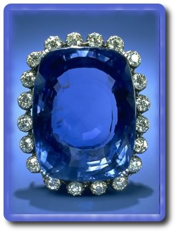 The Logan sapphire is a flawless specimen from Sri Lanka, possesses a rich blue color and is the second largest (blue) sapphire known, weighing 423 carats (84.6 g).